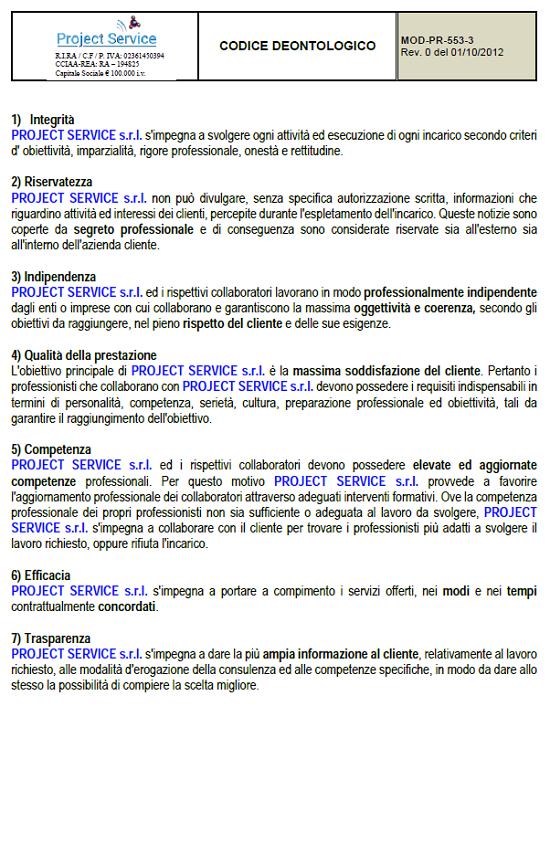 Codice Deontologico